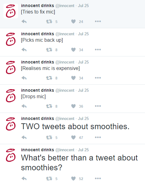 Innocent Tweets - Brand Voice - Hook Research