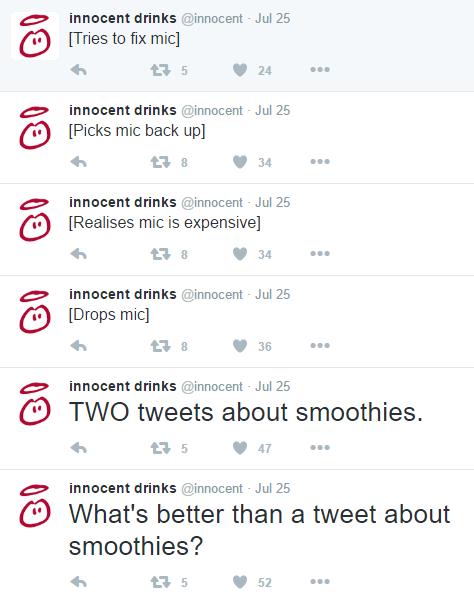 Innocent Tweets - Brand Voice - Hook Research